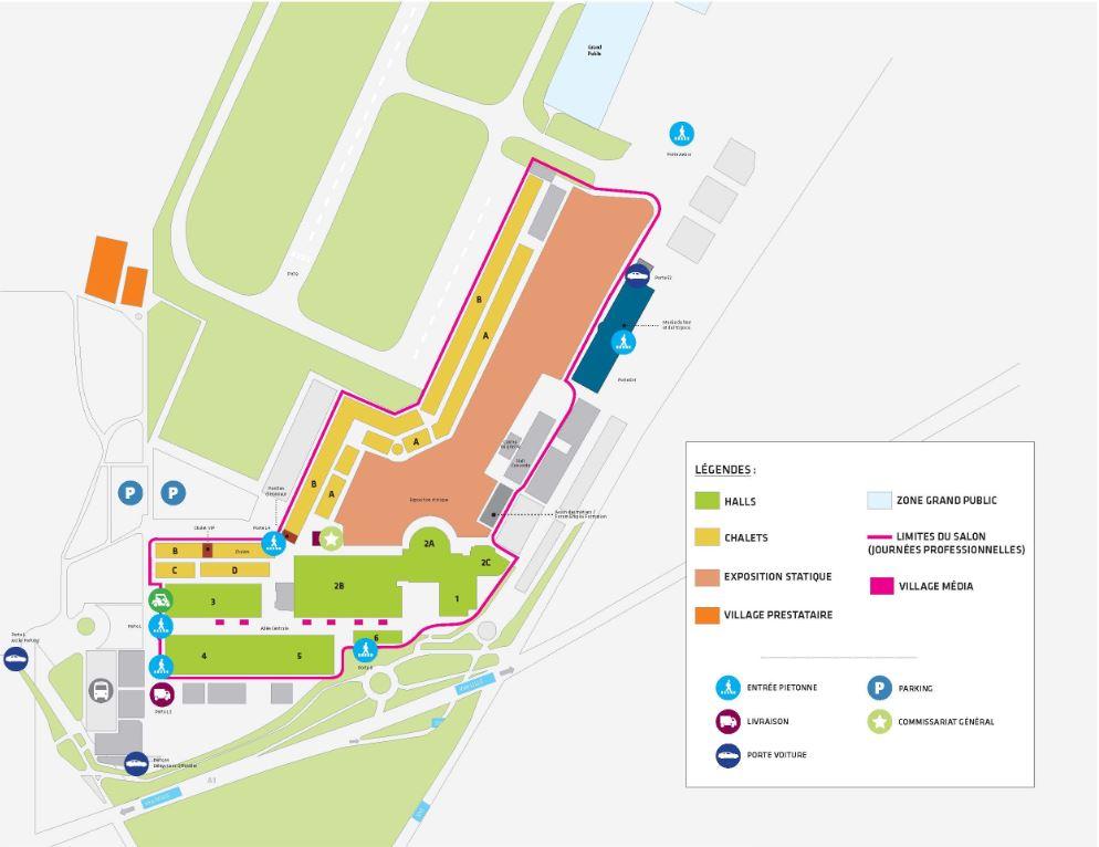 Plan du salon siae 2017 for Parking salon du bourget 2017